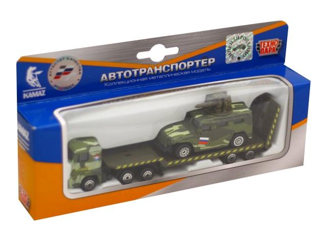 Машина металл Технопарк Камаз транспортер с военной машиной SB-17-33WB