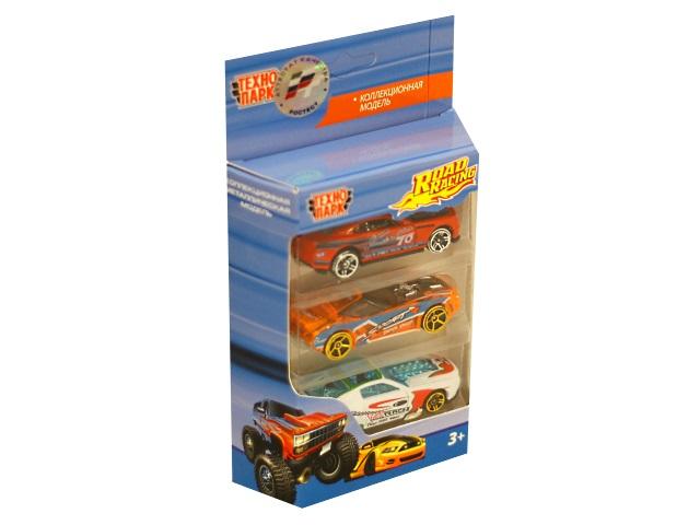 Набор машин металл 3 шт. Технопарк Road Racing 1610I280-R