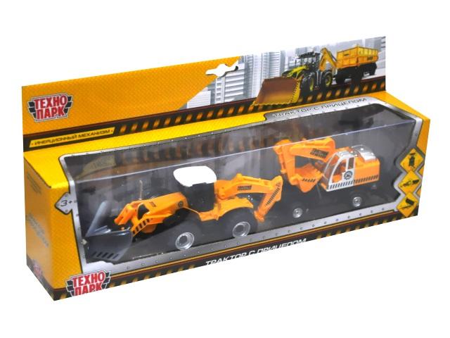 Трактор с прицепом металл 28.5см Технопарк 158A2-R