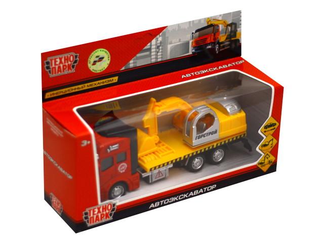 Машина металл Технопарк Автоэкскаватор металл 19см 2211-R3