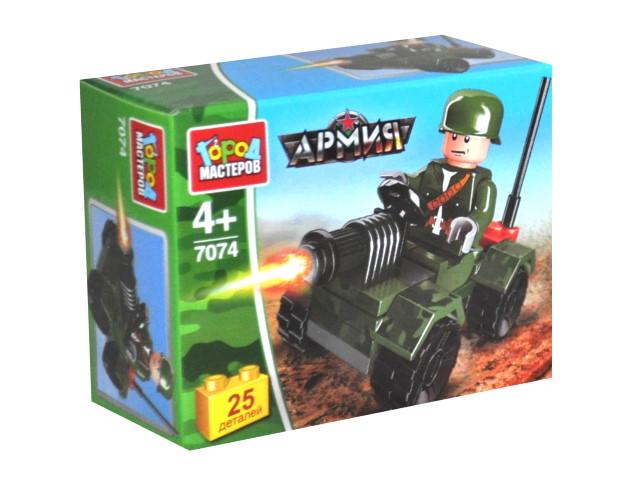 Конструктор  25 деталей Боевая машина Город мастеров 7074