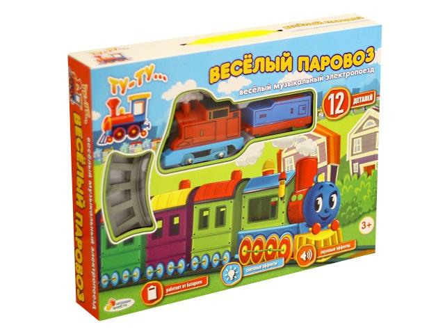 Железная дорога на батарейках Веселый паровоз 160см Играем вместе B1265595-R1