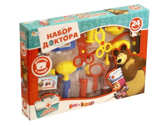 Докторский набор 24 предмета Маша и медведь Играем вместе A373-H34024-R