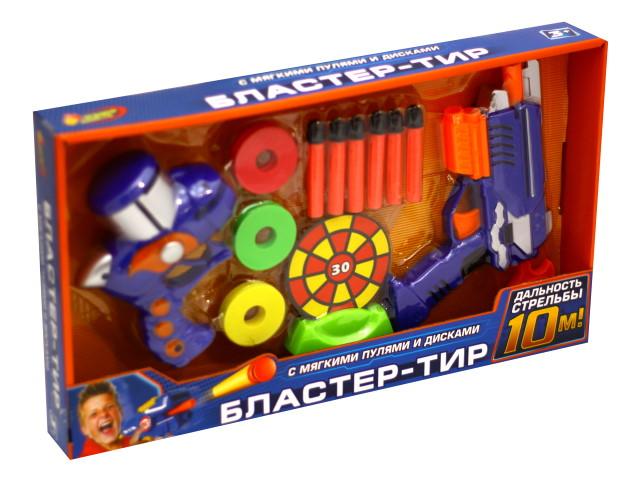 Бластер  6 пуль 15см Тир с дисками Играем вместе B630505-R1