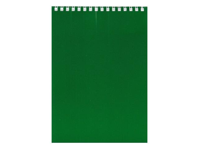 Блокнот А5 Hatber спираль сверху м/обложка  60л Зеленый 60Б5В1гр_12535