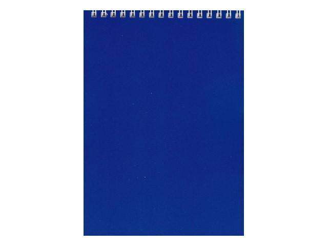 Блокнот А5 спираль сверху м/обложка  60л Синий Hatber 60Б5В1гр_12534