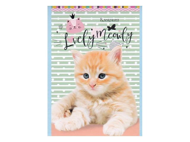 Блокнот А6 на скобе м/обложка 32л Очаровательные котята Prof Press Б32-6955