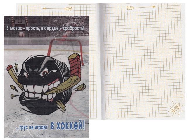 Записная книжка А5 тв/переплёт 128л Трус не играет в хоккей Prof Press 128-6245