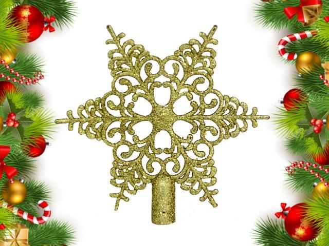Ёлочная игрушка Верхушка Новогодняя звезда 20см Miland НУ-8358