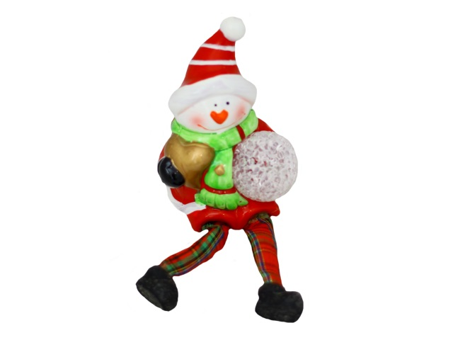 Фигурка с led-подсветкой Милый снеговик 12см Miland Т-0154