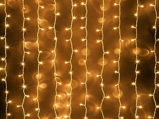 Гирлянда занавес 1.4*1.4м 80 ламп желтый свет 8 режимов Miland НУ-4629