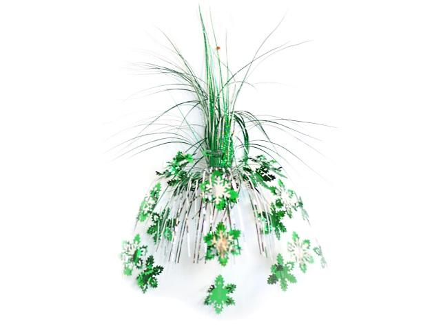 Новогодний декор фольга 50см Снежинки зелёные Miland НУ-9984