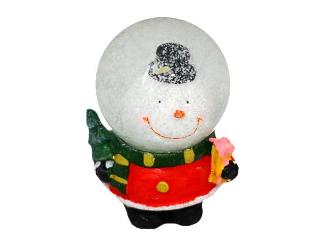 Сувенир Снежный шар Симпатичный снеговик 10см Miland Т-9885