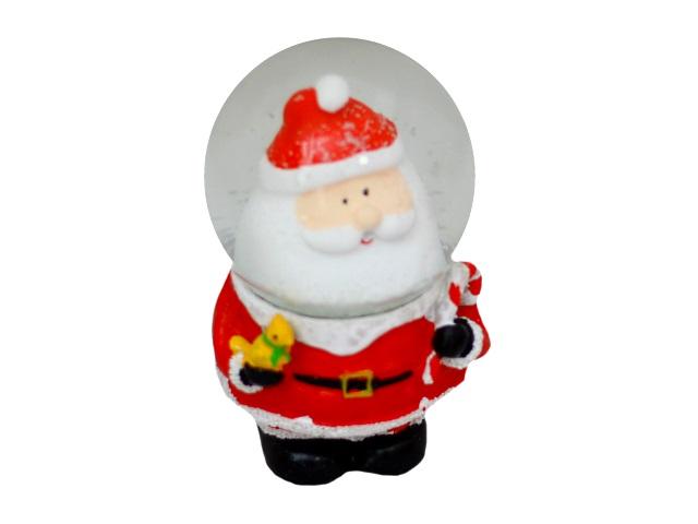 Сувенир Снежный шар Радостный Санта 10см Miland Т-9886