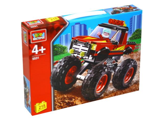 Конструктор  215 деталей Город мастеров Автоспорт Джип с большими колесами 5531