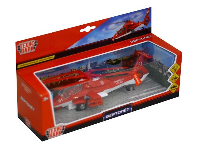 Вертолет металл Пожарная служба 21см Технопарк CT10-036-1
