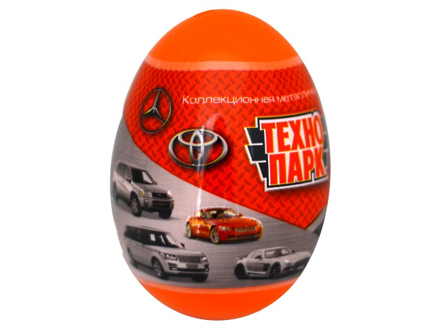 Машина металл Технопарк Иномарка 7.5см в яйце EGG-TP