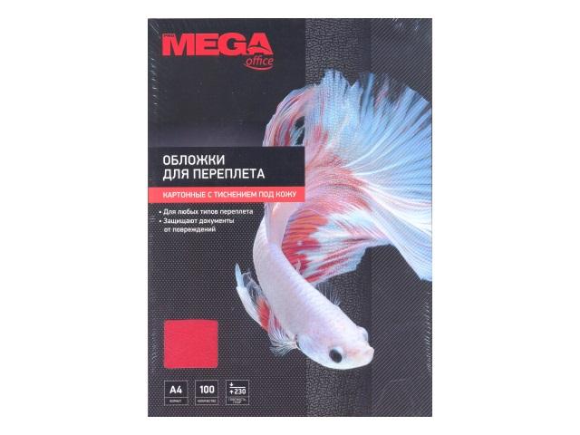 Обложки для брошюровки картон А4 ProMega красные тисненые 100 шт. 254602