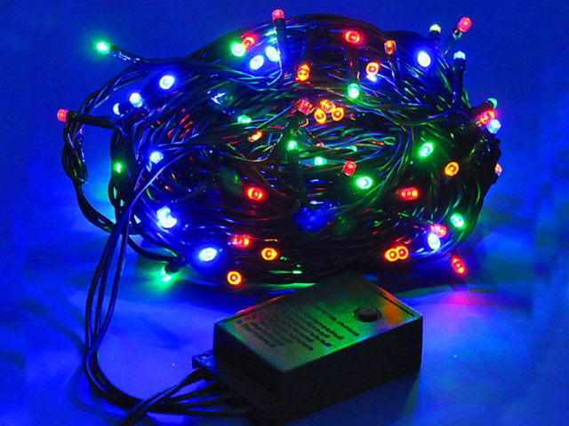 Гирлянда точечная  3м 100 лампочек цветная 8 режимов 180190-2