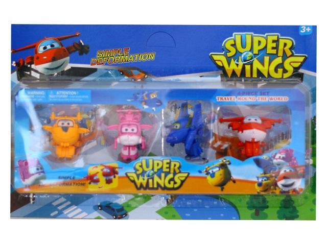 Фигурка-трансформер 4 шт. Super Wings