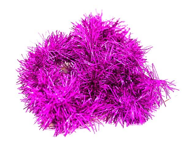 Мишура 200см D=8см цветная однотонная Блеск