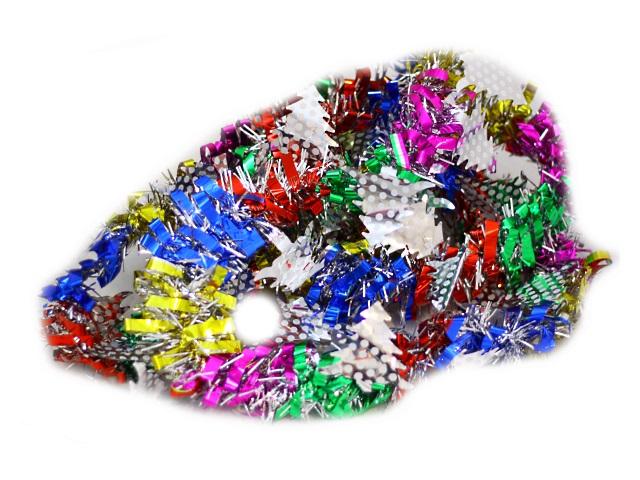 Мишура 200см D=4см Радуга цветная с елочками
