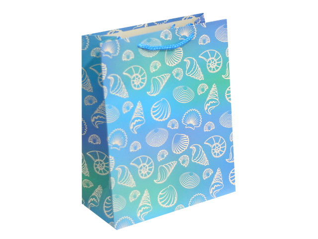 Пакет подарочный бумажный 26*33*14см Красивые ракушки Miland ПКП-8794