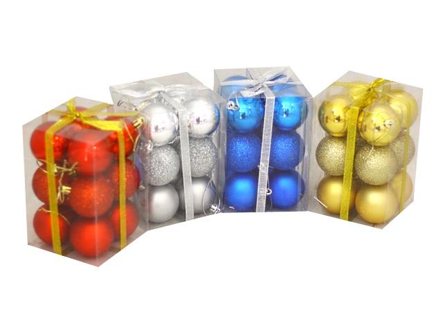 Ёлочная игрушка набор 12шт Шар D=5см цветные 190730-8