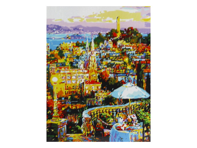 Картина по номерам 40*50см Жизнь города Mazari М-10085