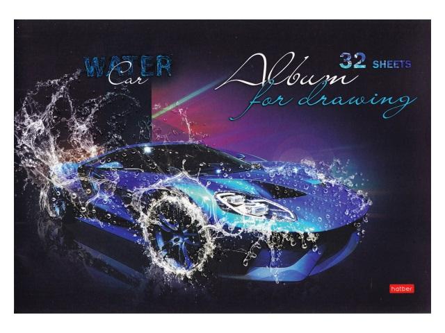 Альбом 32л А4 Hatber на скобах Автостихии 110 г/м2 32А4лолВ
