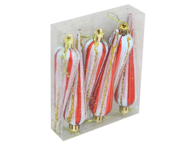 Ёлочная игрушка набор  4шт Сосульки цветные 12см 190712-13