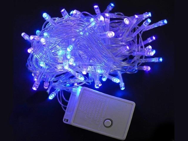 Гирлянда точечная  5.5м  60 лампочек белая 8 режимов Miland НУ-6550