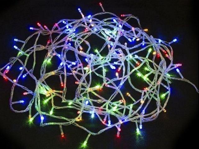 Гирлянда точечная  9м 100 лампочек цветная 8 режимов Miland НУ-6554