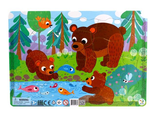 Пазлы в рамке Dodo 21 деталь Медвежата R300221