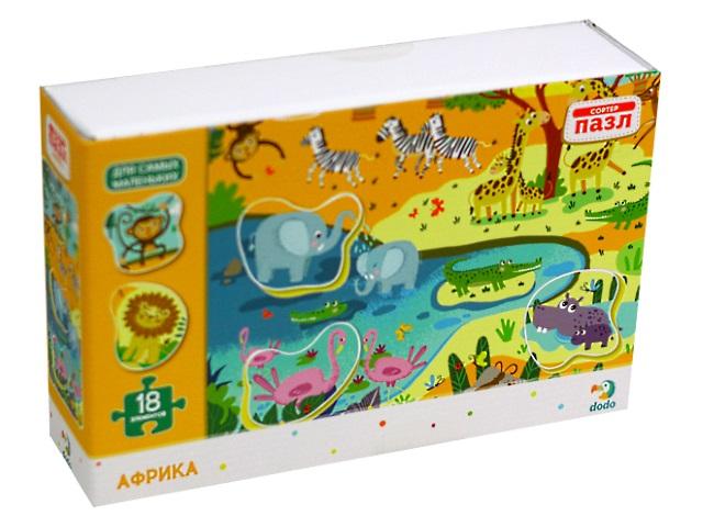 Пазлы Dodo Maxi 18 деталей Африка R300159