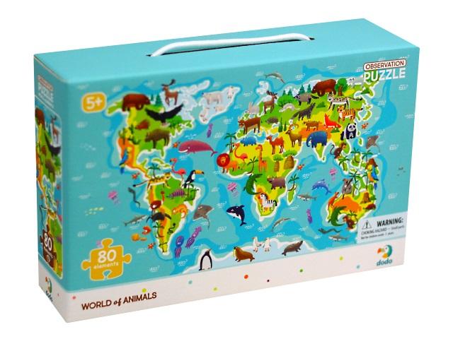 Пазлы Dodo  80 деталей Мир животных 300133