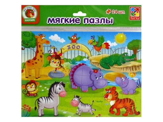 Пазлы мягкие Vladi Toys 24 детали Зоопарк VT1102-13