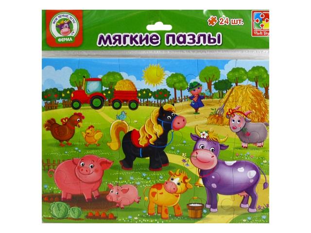 Пазлы мягкие Vladi Toys 24 детали Ферма VT1102-14