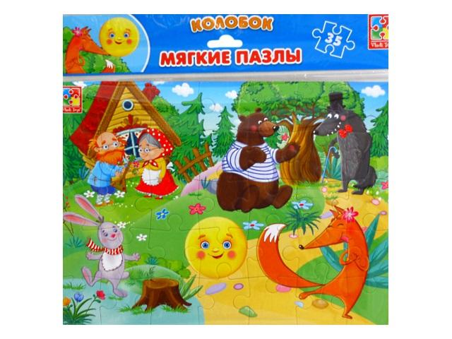 Пазлы мягкие Vladi Toys 35 деталей Сказки Колобок VT1102-19