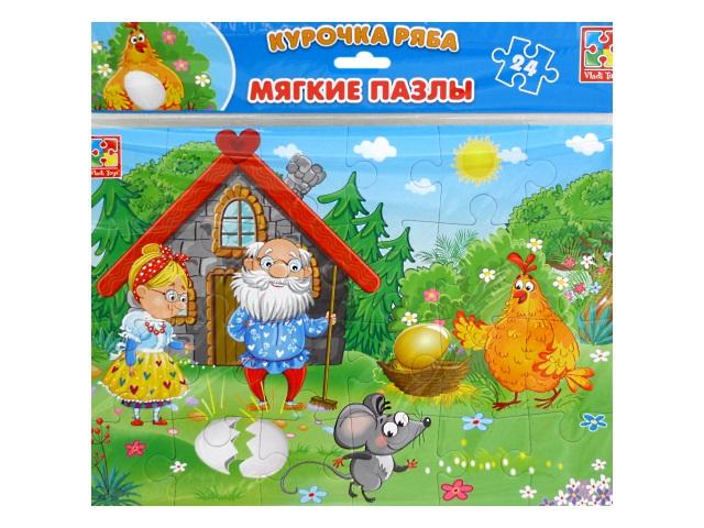 Пазлы мягкие Vladi Toys 24 детали Сказки Курочка Ряба VT1102-20