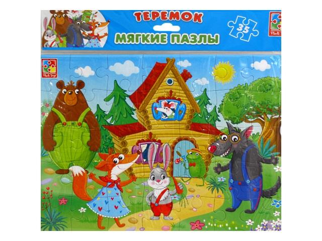 Пазлы мягкие Vladi Toys 35 деталей Сказки Теремок VT1102-22