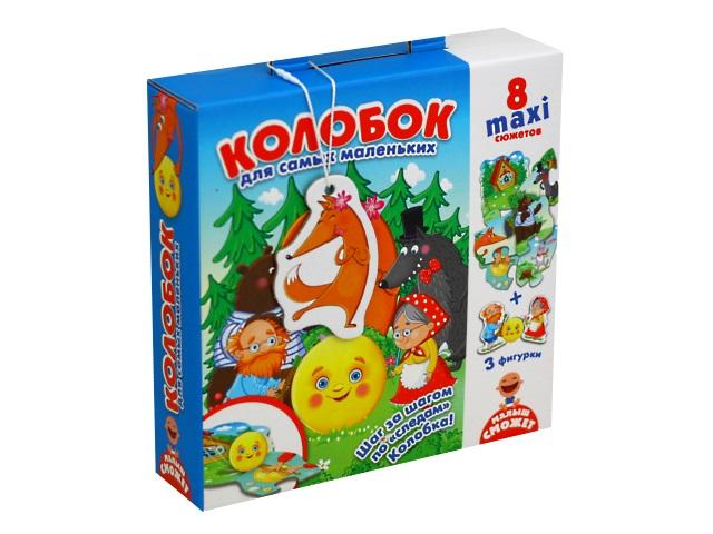 Пазлы Vladi Toys 10 деталей Путешествие по сказке Колобок VT2909-11