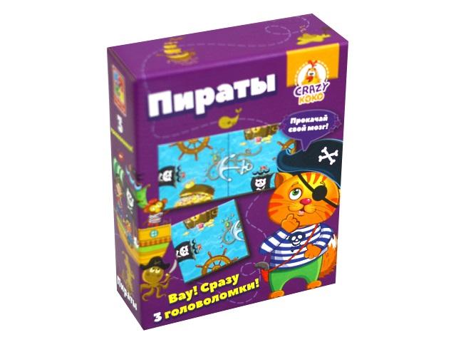Настольная игра Пираты 3 в 1 Crazy Koko VT8055-01