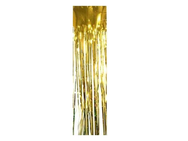 Дождик 1.5м Мерцающие огни золотой Miland НУ-6494