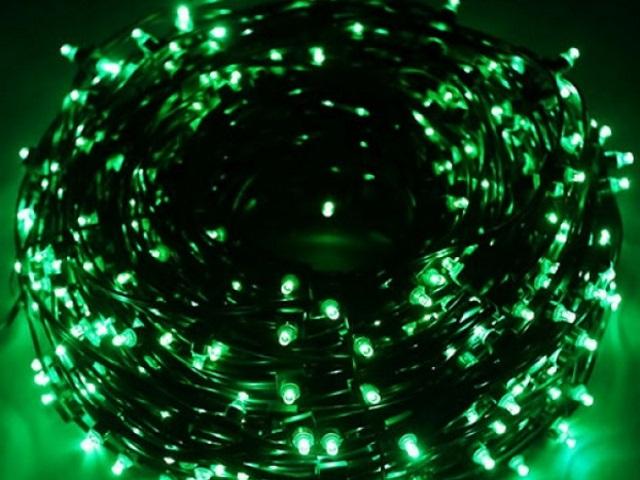 Гирлянда уличная 20м 200 зелёных ламп Miland НУ-1025