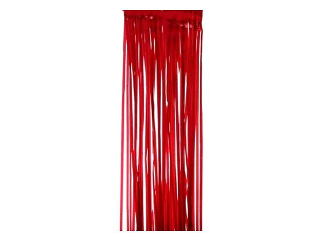 Дождик  1м Новогодняя искра красный Miland НУ-6490