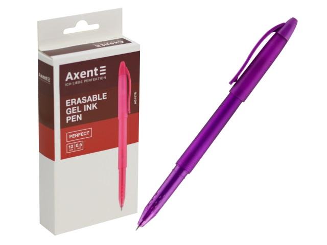 Ручка пиши-стирай Axent гелевая синяя 0.5мм фиолетовый корпус AG1078-11-A