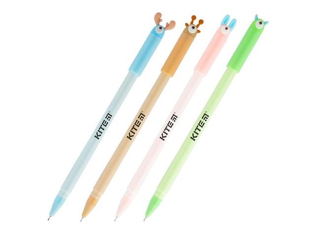 Ручка гелевая Kite Big eyes синяя 0.5мм K19-027