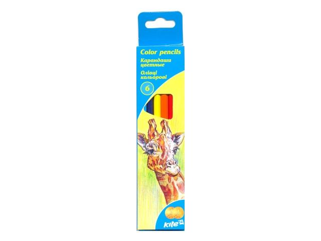 Карандаши цветные  6цв Kite Животные шестигранные K15-050