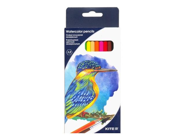 Карандаши цветные 12цв Kite акварельные шестигранные K18-1049